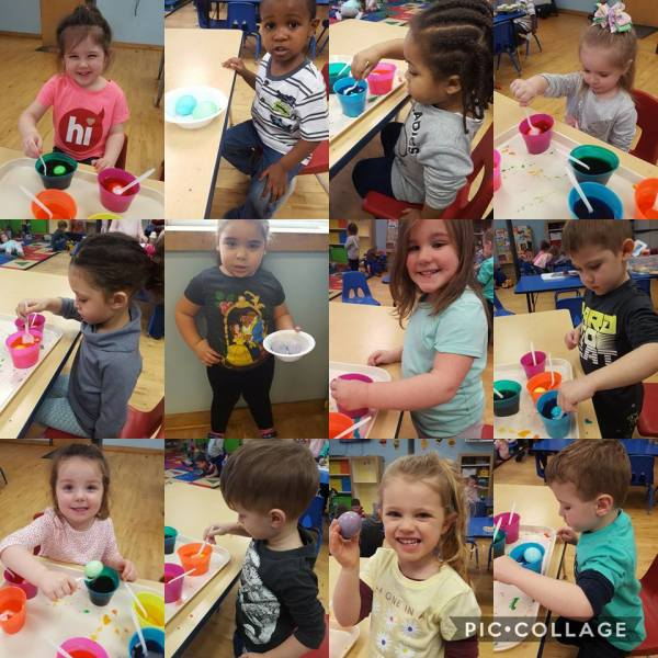 Coloring Easter Eggs 2018